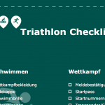Triathlon Checkliste