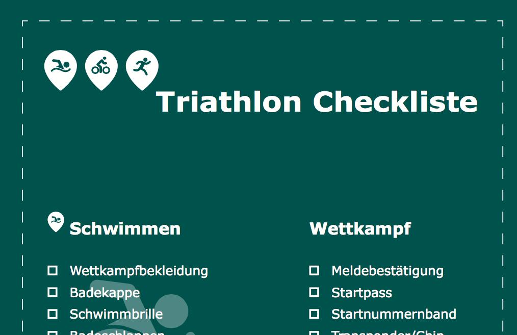 Triathlon Checkliste